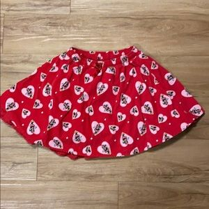 Disney Minnie Mouse shorts skirt w/shorts built in